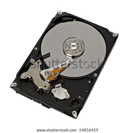 Hard Disk Drive,isolated on white with clipping path