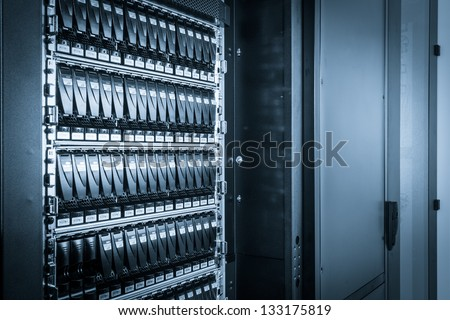 hard drives in data center