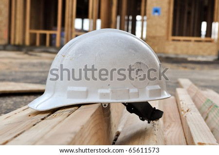 Hard Hat at New Home Construction Site