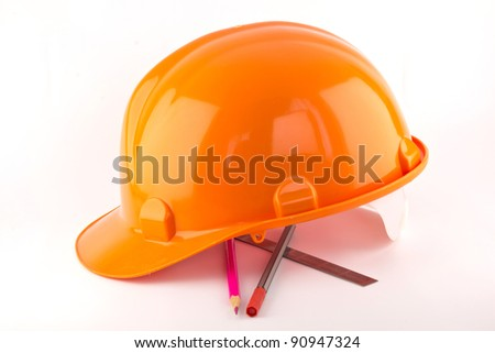 hard hat isolated on white