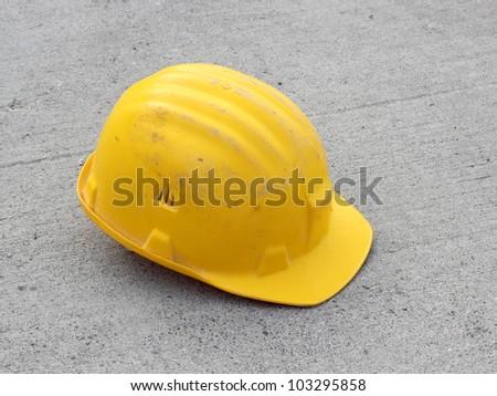 Hard hat on concrete