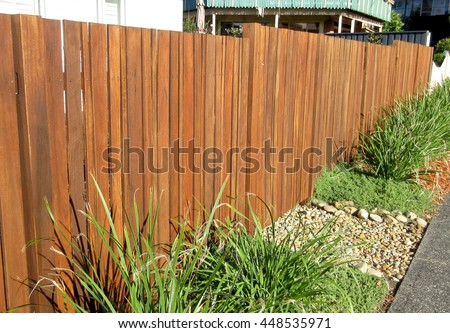 Hard Landscaping - Timber Fencing Perspective View (Timber Fence)