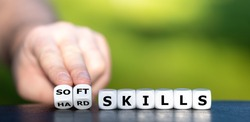 Hard skills versus soft skills. Dice form the expressions
