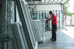Hard work in aluminium and pvc factory