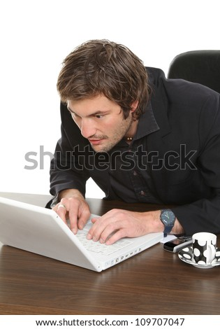 Hard Working Businessman Stock Photo 109707047 : Shutterstock