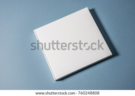 Hardcover book on isolated background. Mock up.