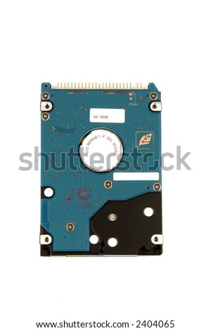 harddrive of a notebook isolated on white