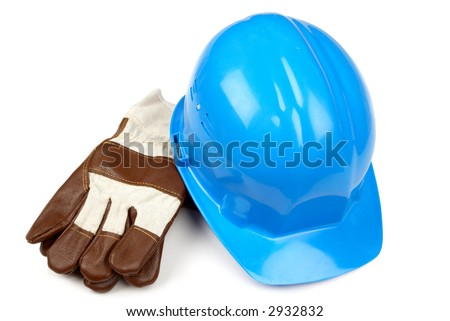 hardhat and working gloves
