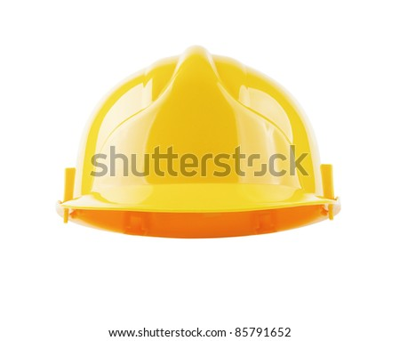 Hardhat isolated with clipping path so you can put your own character in