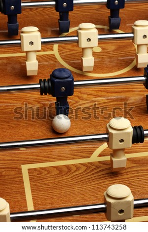 Hardwood foosball table - stock photo
