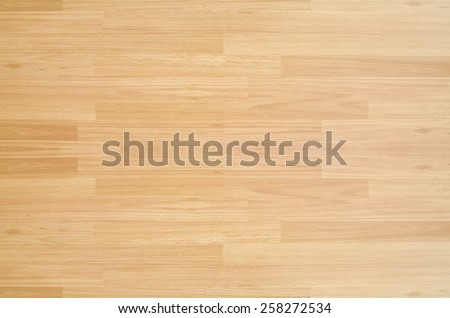 Hardwood maple basketball court floor viewed from above for natural texture and background #258272534