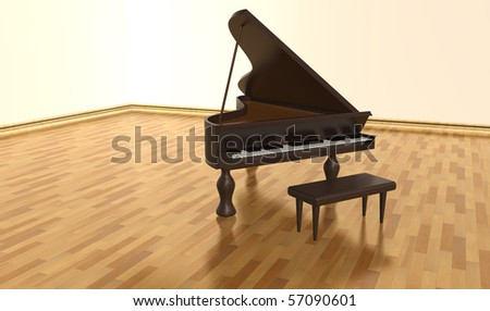 Hardwood old piano