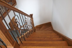 hardwood staircase classic style interior steps stairway design