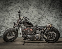 Harley Davidson Motorcycle with Cool Background