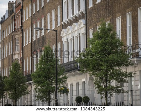 Harley Street buildings in Marylebone, London. A famous London street notable for its many private medical specialists
