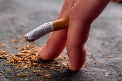 Harm of smoking, development of infertility and impotence. Nicotine addiction. Smoking concept