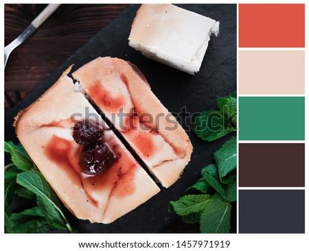 Harmonious color combinations. Color palette. Baked pudding colour swatch. #1457971919