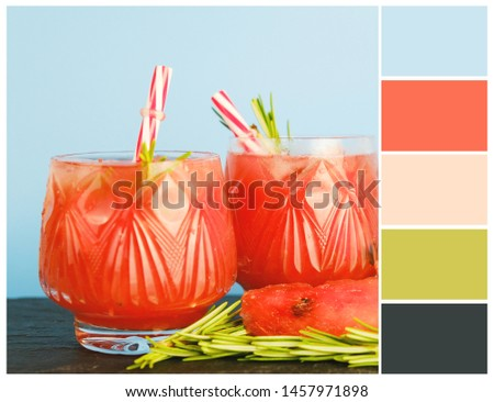 Harmonious color combinations. Color palette. Summer colour swatch.