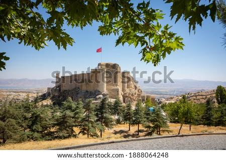Harput Castle in Elazig Turkey. Harput Castle also known as Sut Kalesi (milk castle in english) in Harput district of Elazig.