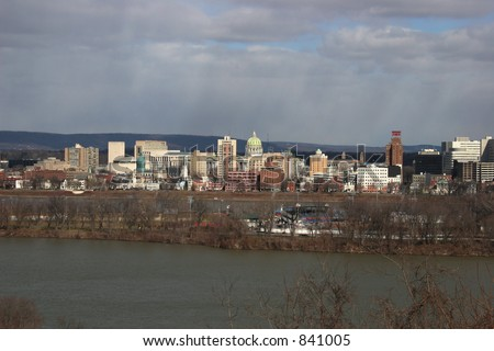Harrisburg, Pennsylvania skyline. Capital of Pennsylvania.
