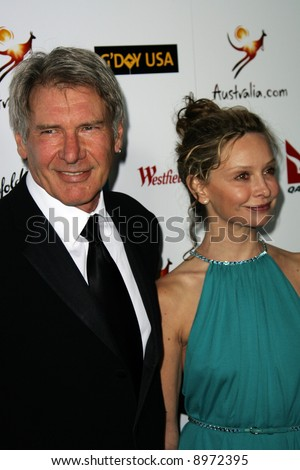 Harrison Ford and Calista Flockhart. The Australia Weeks G'Day USA Gala held at the Kodak Theatre in Hollywood - 19 January 2008. Compulsory Credit: Entertainment Press