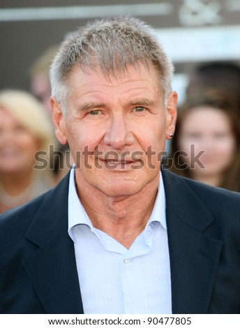 Harrison Ford arriving for the UK premiere of 'Cowboys & Aliens' at the O2, London. 11/08/2011  Picture by: Alexandra Glen / Featureflash
