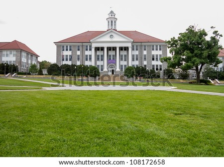 HARRISONBURG, VA - JULY 11: Wilson Hall at James Madison University, Harrisonburg, Virginia on July 11, 2012. The hall is named after President Wilson and completed in 1931