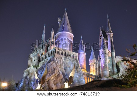 harry potter castle orlando. stock photo : Harry Potter