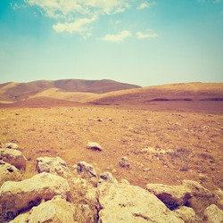 Harsh Mountainous Terrain in the West Bank, Israel, Instagram Effect