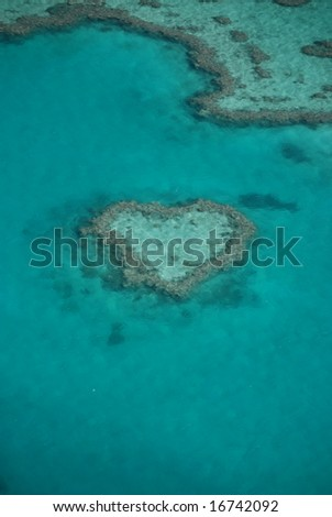 Hart Shaped Reef in the Great Barrier Reef in Australia by Helicopter