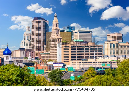 Hartford, Connecticut, USA downtown city skyline.