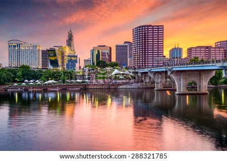 Hartford, Connecticut, USA downtown skyline. Сток-фото ©