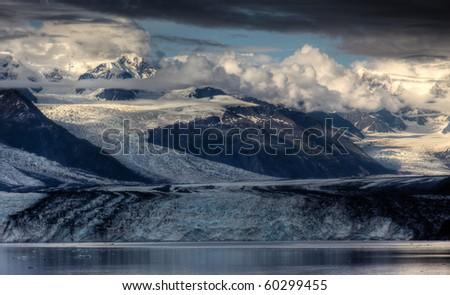 Harvard Glacier in College Fjord, Alaska
