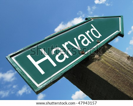 HARVARD road sign