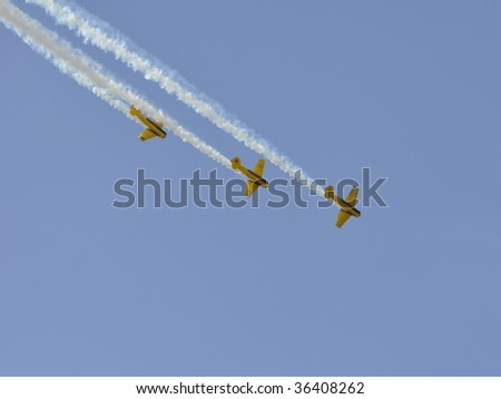 Harvards in formation flight