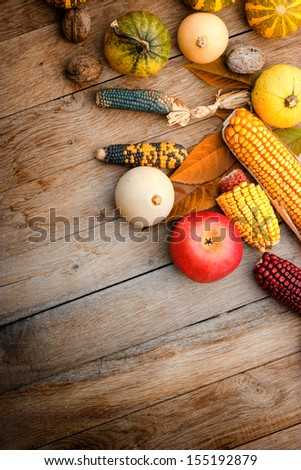 Harvest on a table