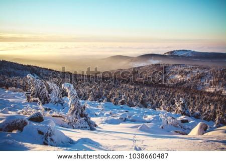 Harz mountains winter #1038660487