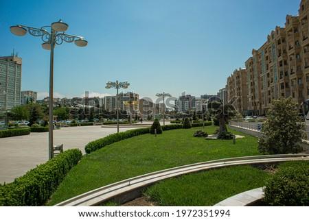 Hasan Aliyev Street Baku Azerbaijan. Genclik Park. Ganjlik Park Azerbaijan.