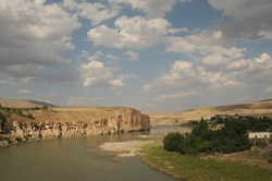 Hasankeyf is an ancient town and district located along the Tigris River in the Batman Province in southeastern Turkey. It was declared a natural conservation.