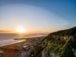 Hastings Old Town shining in the Golden hour sunset at the end of 2020. Cliffs, beaches, character, old meets new, tradition and beauty all captured in one place.
