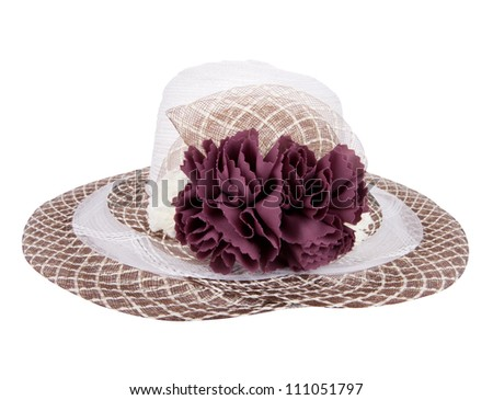 hat flowers,  isolated on white