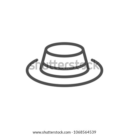 Hat line icon isolated on white