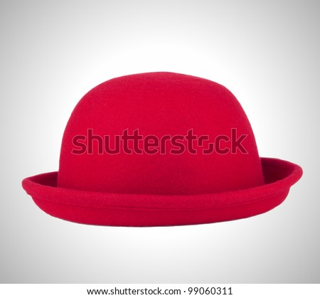 hat red - stock photo