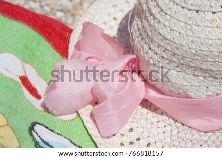 hat summer sea nobody white,background #766818157