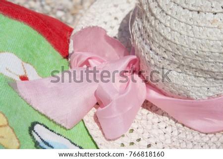 hat summer sea nobody white,background #766818160