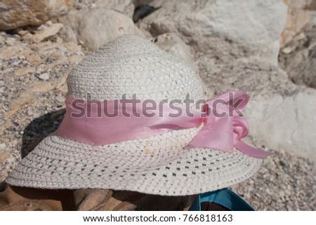 hat summer sea nobody white,background #766818163