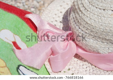 hat summer sea nobody white,background #766818166