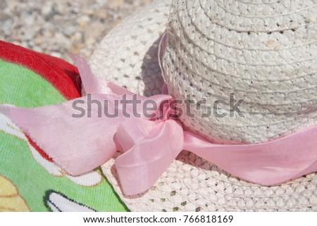 hat summer sea nobody white,background #766818169