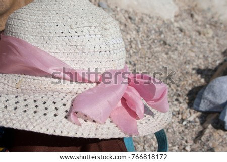 hat summer sea nobody white,background #766818172