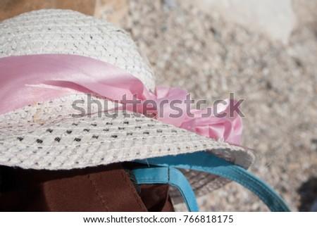 hat summer sea nobody white,background #766818175